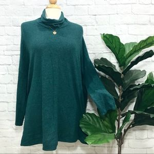 ANTHROPOLOGIE mila dolman turtle neck poncho
